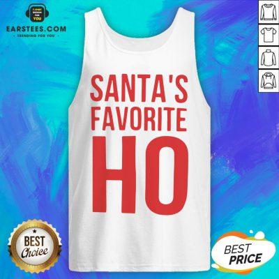 Top Santa's Favorite Ho Christmas Tank Top - Design By Earstees.com