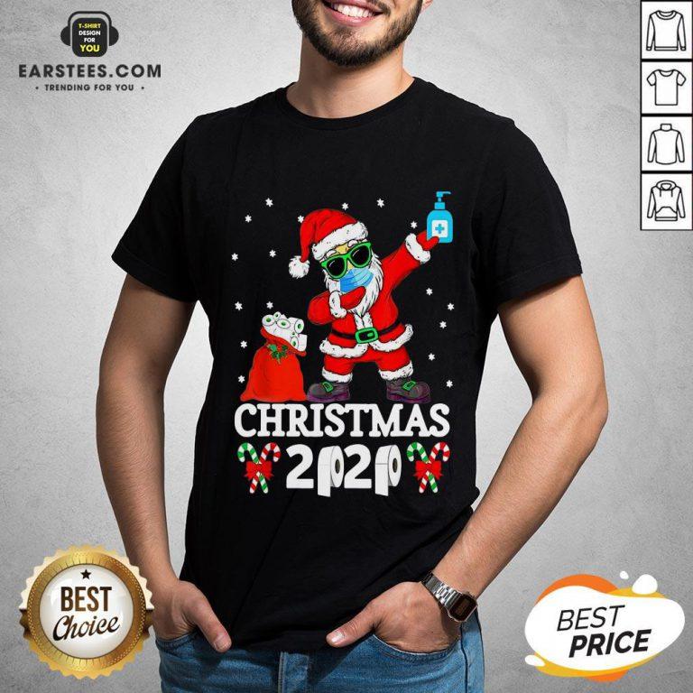 Top Satan Claus Dabbing Christmas 2020 Toilet Paper Shirt- Design By Earstees.com