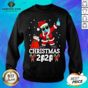 Top Satan Claus Dabbing Christmas 2020 Toilet Paper Sweatshirt - Design By Earstees.com
