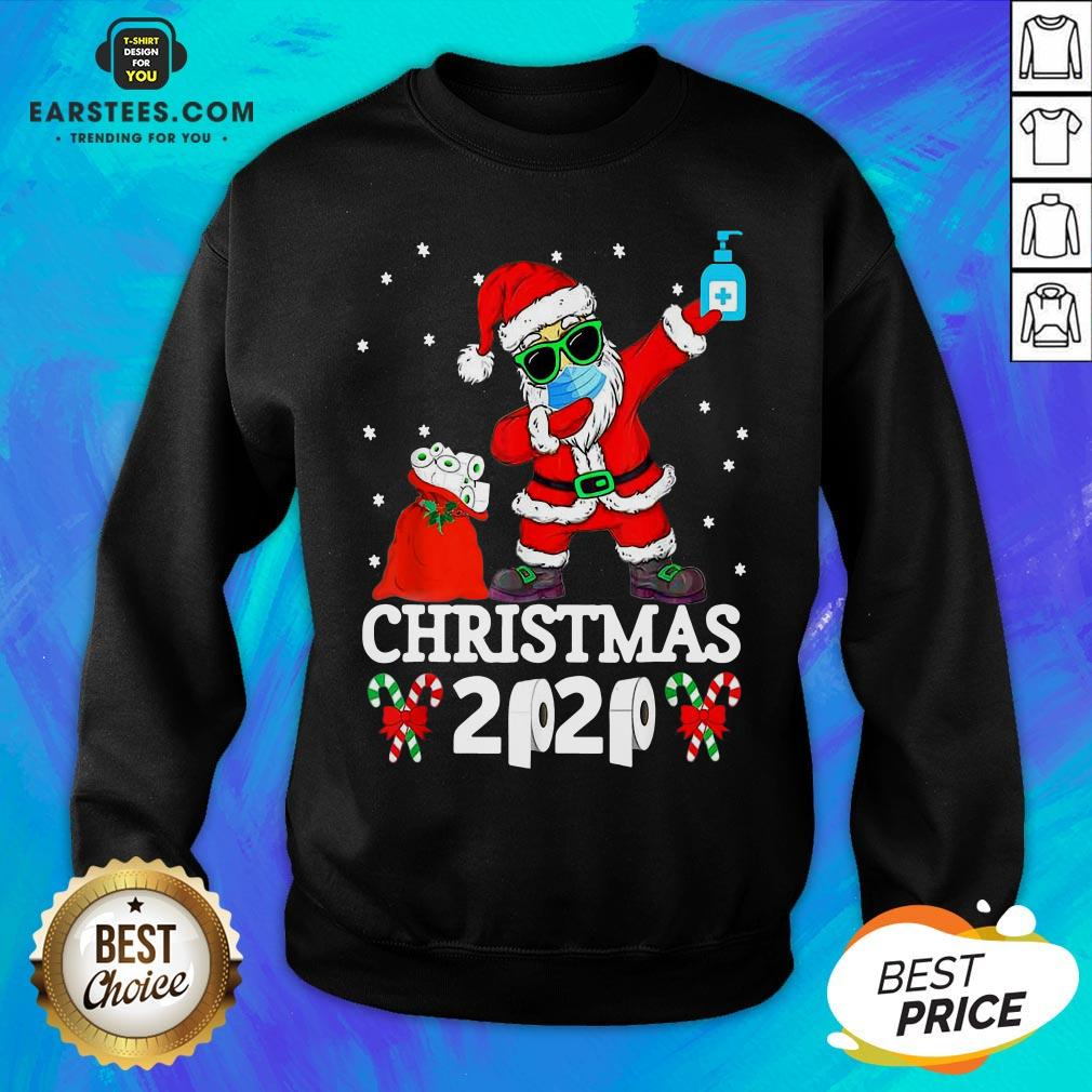 Top Satan Claus Dabbing Christmas 2020 Toilet Paper Sweatshirt - Design By Earstees.com