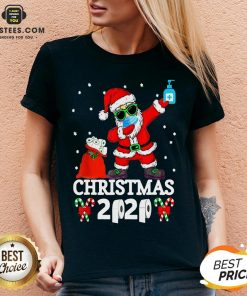 Top Satan Claus Dabbing Christmas 2020 Toilet Paper V-neck - Design By Earstees.com