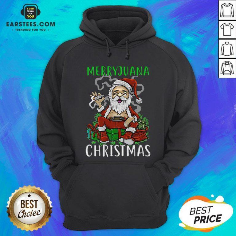 Top Satan Claus Marijuana Christmas Hoodie - Design By Earstees.com