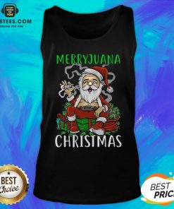 Top Satan Claus Marijuana Christmas Tank Top - Design By Earstees.com