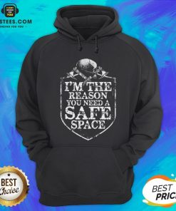 Viking I'm The Reason You Need A Safe Space Skull Hoodie - Design By Earstees.com