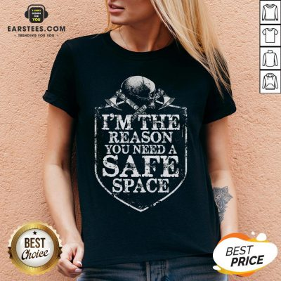 Viking I'm The Reason You Need A Safe Space Skull V-neck - Design By Earstees.com