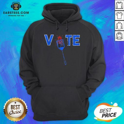 Vote Truth Over Flies Fly Swatter Biden 2020 Hoodie - Design By Earstees.com