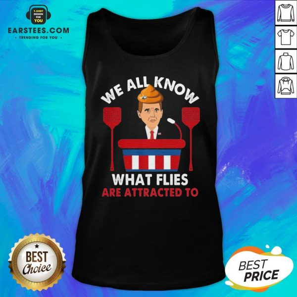 We All Know What Flies Are Attracted To Funny Pence 2020 VP Debate Tank Top - Design By Earstees.com