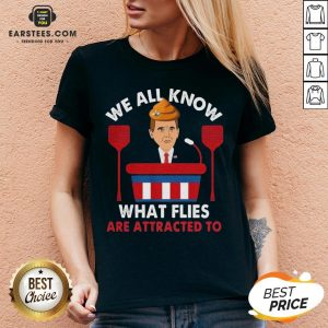 We All Know What Flies Are Attracted To Funny Pence 2020 VP Debate V-neck - Design By Earstees.com