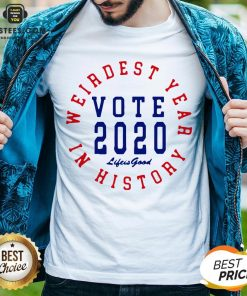 Weirdest Year In History Vote 2020 Shirt - Design By Earstees.com