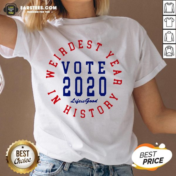 Weirdest Year In History Vote 2020 V-neck - Design By Earstees.com