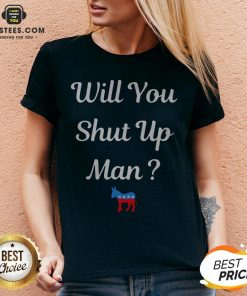 Will You Just Shut Up Man Biden 2020 V-neck - Design By Earstees.com