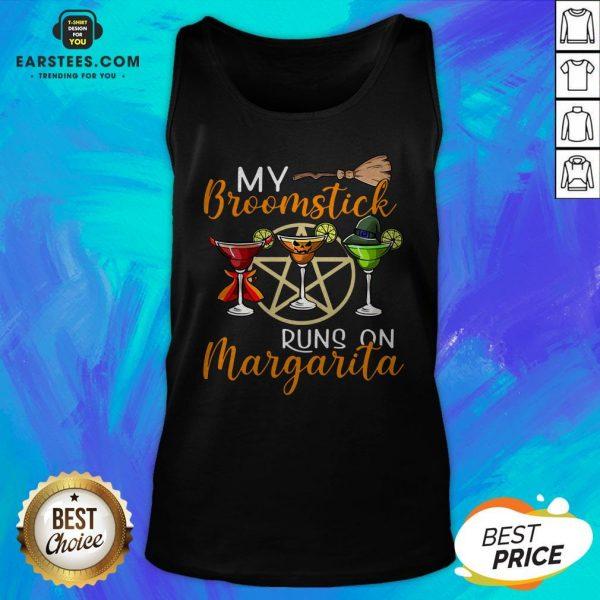 Wines My Broomstick Runs On Margarita Supernatural Halloween Tank Top - Design By Earstees.com
