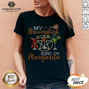 Wines My Broomstick Runs On Margarita Supernatural Halloween V-neck - Design By Earstees.com
