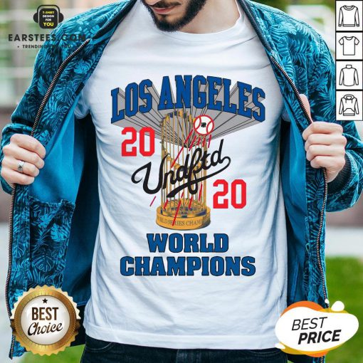 Official MLB Los Angeles Dodgers Undefeated 2020 World Championship Dodgers National League Champions 2020 Blue Shirt - Design By Earstees.com