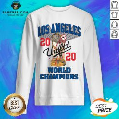 Official MLB Los Angeles Dodgers Undefeated 2020 World Championship Dodgers National League Champions 2020 Blue Sweatshirt - Design By Earstees.com