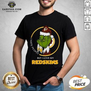 Awesome Grinch I Hate People But I Love My Redskins Shirt - Design By Earstees.com