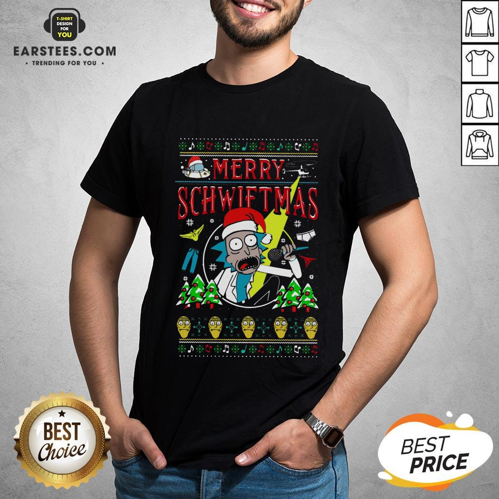 Awesome Rick And Morty Merry Schwiftmas Christmas Shirt - Design By Earstees.com