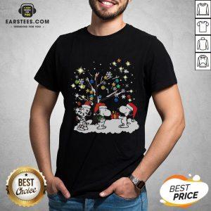 Awesome Snoopy Santa Happy Light Christmas 2020 Shirt - Design By Earstees.com