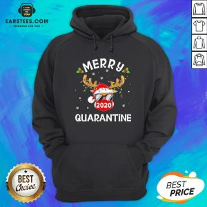 Funny Reindeer Face Mask Santa Merry Quarantine Christmas Sweater Hoodie - Design By Earstees.com