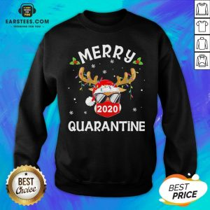 Funny Reindeer Face Mask Santa Merry Quarantine Christmas Sweater Sweatshirt - Design By Earstees.com