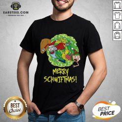 Funny Rick And Morty Merry Christmas Merry Swiftmas Shirt - Design By Earstees.com