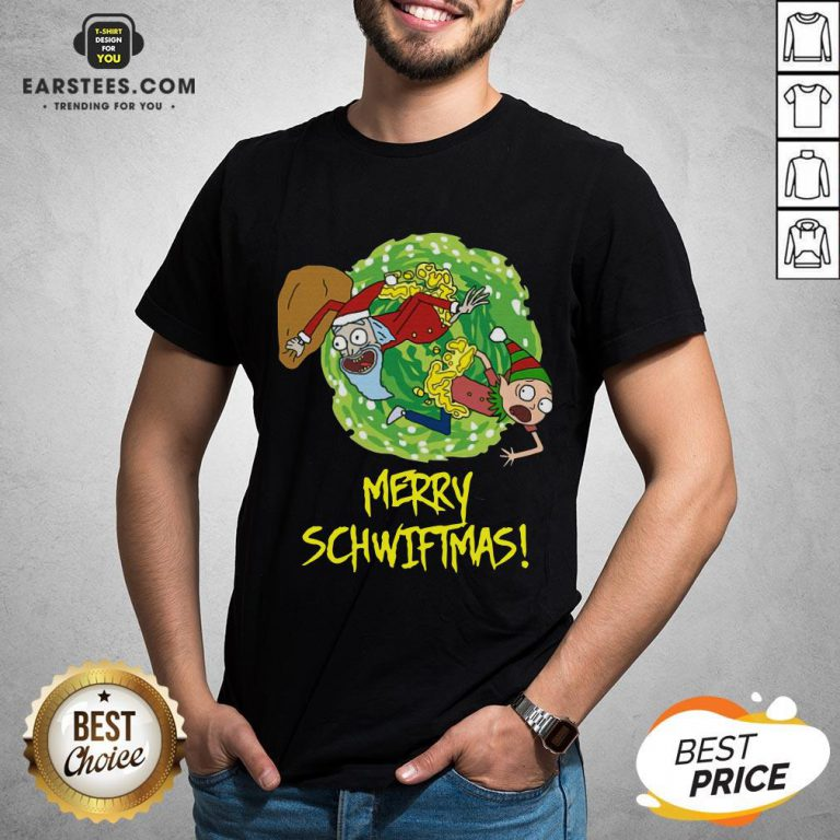 Funny Rick And Morty Merry Christmas Merry Swiftmas Shirt - Design By Earstees.com