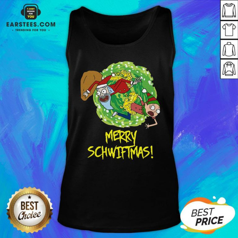 Funny Rick And Morty Merry Christmas Merry Swiftmas Tank Top - Design By Earstees.com