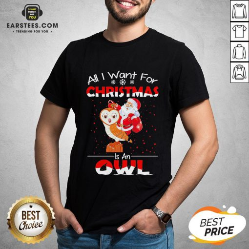 Funny Santa All I Want For Christmas Is An Owl Sweater Shirt - Design By Earstees.com