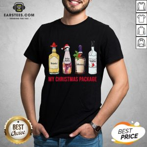 Funny Tequila Jolly Juice Whiskey Vodka My Christmas Package Shirt - Design By Earstees.com