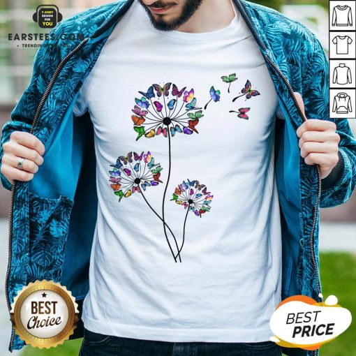 Good Butterfly Dandelion Shirt - Design By Earstees.com