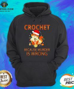 Good Cat Crochet Shirt Because Murder Is Wrong Crochet Hoodie - Design By Earstees.com