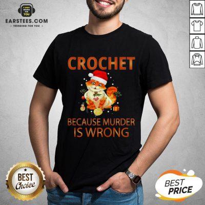 Good Cat Crochet Shirt Because Murder Is Wrong Crochet Shirt - Design By Earstees.com