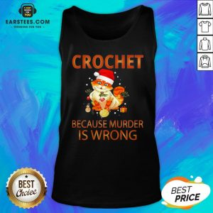Good Cat Crochet Shirt Because Murder Is Wrong Crochet Tank Top - Design By Earstees.com