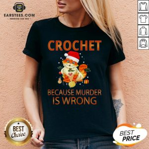 Good Cat Crochet Shirt Because Murder Is Wrong Crochet V-neck - Design By Earstees.com