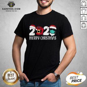 Good Santa Face Mask Merry Quarantine Christmas 2020 Shirt - Design By Earstees.com