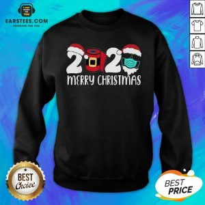 Good Santa Face Mask Merry Quarantine Christmas 2020 Sweatshirt - Design By Earstees.com
