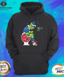 Good The Grinch Buffalo Bills Shit On Toilet New England Patriots Christmas Hoodie - Design By Earstees.com