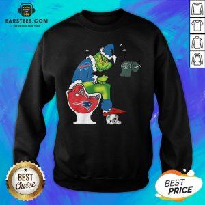Good The Grinch Buffalo Bills Shit On Toilet New England Patriots Christmas Sweatshirt - Design By Earstees.com
