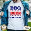 Great Bbq Beer And Freedom Shirt - Design By Earstees.com