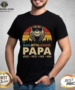 Hot Bear Man Myth Legend Papa Woods Hayes Knox Noad Vintage Retro Shirt - Design By Earstees.com