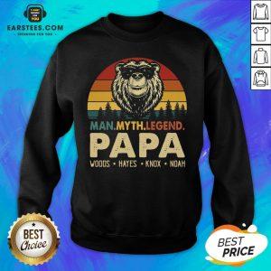 Hot Bear Man Myth Legend Papa Woods Hayes Knox Noad Vintage Retro Sweatshirt - Design By Earstees.com