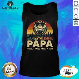 Hot Bear Man Myth Legend Papa Woods Hayes Knox Noad Vintage Retro Tank Top - Design By Earstees.com