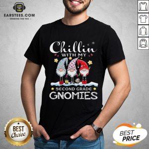 Hot Chillin' With My Kindergarten Gnomies Teacher Christmas Shirt - Design By Earstees.com