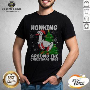 Hot Honking Around The Christmas Tree Duck Noel Trending Sweat Shirt - Design By Earstees.com