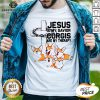 Hot Jesus Is My Savior Corgis Are Therapy Shirt - Design By Earstees.com
