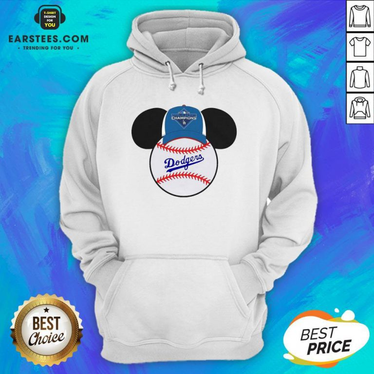 Hot L.A Dodgers Mickey Mouse Champions 2020 Hoodie - Design By Earstees.com