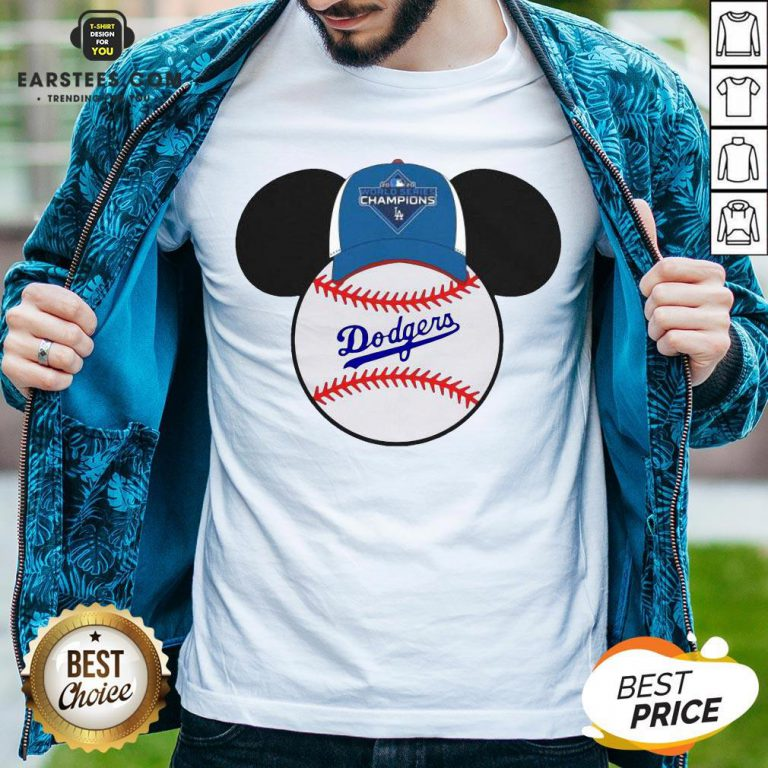 Hot L.A Dodgers Mickey Mouse Champions 2020 T-Shirt - Design By Earstees.com