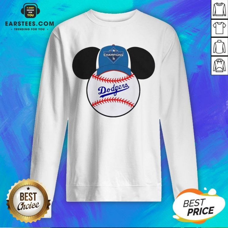 Hot L.A Dodgers Mickey Mouse Champions 2020 Sweatshirt - Design By Earstees.com