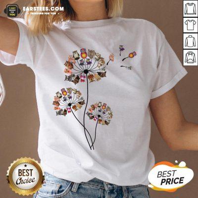 Hot Owl Dandelion V-neck - Design By Earstees.com