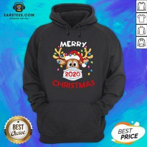 Hot Reindeer In Mask Merry Christmas Hoodie - Design By Earstees.com
